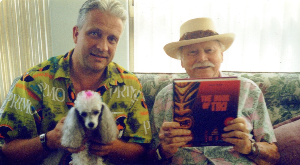 Sven Kirsten and Martin Denny with The Book of Tiki